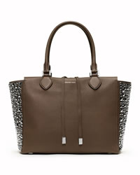 Michael Kors Large Miranda Stud-Side Tote - ELEPHANT GREY - 31F3MMDT8G