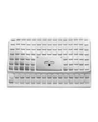 MICHAEL Michael Kors Natalia Tile Flap Clutch - OPTIC WHITE - 30H3SNLC2L