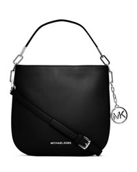 MICHAEL Michael Kors Medium Brooke Shoulder Bag - BLACK - 30H3SOKL2L
