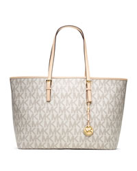 MICHAEL Michael Kors Medium Jet Set Multifunction Logo Travel Tote - VANILLA - 30T3GTVT6B