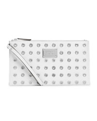 MICHAEL Michael Kors Large Jet Set Grommet Zip Clutch - OPTIC WHITE - 32H2SJGW3L