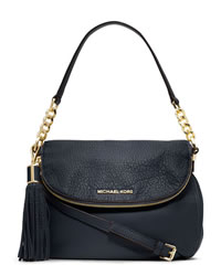 MICHAEL Michael Kors Medium Bedford Tassle Convertible Shoulder Bag - MIDNIGHT - 30H3GWSL6L-416