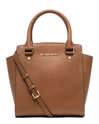 MICHAEL Michael Kors Large Selma Messenger - LUGGAGE - 30H3GLMM3L