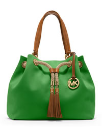 MICHAEL Michael Kors Large Marina Gathered Tote - PALM - 30H3GMAT3C