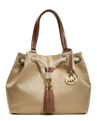 MICHAEL Michael Kors Large Marina Gathered Tote - GOLD - 30H3GMAT3C