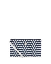 MICHAEL Michael Kors Large Kiki Zip Clutch - WHITE/NAVY - 32F3SKIW3R