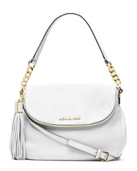 MICHAEL Michael Kors Medium Bedford Tassle Convertible Shoulder Bag - OPTIC WHITE - 30H3GWSL6L-085