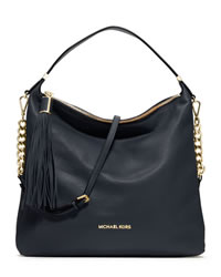 MICHAEL Michael Kors Large Bedford Tassle Shoulder Bag - MIDNIGHT - 30T3MWSL3L