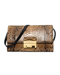 Michael Kors Gia Clutch with Lock - SUNTAN - 31H2GGAC2P