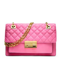 Michael Kors Gia Shoulder Flap Bag - CARNATION - 31H3GGAF3L