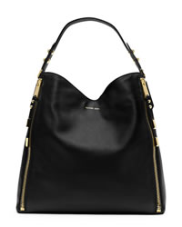 Michael Kors Miranda Zipper Shoulder Bag - BLACK - 31H3GMZL7L