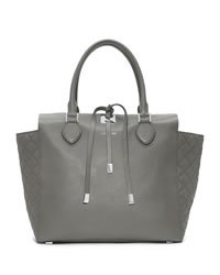 Michael Kors Large Miranda Quilted Tote - PEARL GREY - 31H3MMQT8L