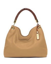 Michael Kors Large Skorpios Shoulder Bag - SUNTAN - 31S3GSKL6L