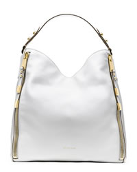 Michael Kors Miranda Zipper Shoulder Bag - OPTIC WHITE - 31H3GMZL7L