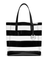 MICHAEL Michael Kors Medium Eliza Tote - CLEAR/BLACK - 30S4SZAT2P