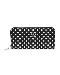 MICHAEL Michael Kors Jet Set Travel Dotted Zip-Around Continental Wallet - BLACK/WHITE - 32S4SDTZ3R