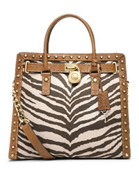 MICHAEL Michael Kors Large Hamilton Pickstitch Studded Tote - TIGER - 30S4GTKT7R