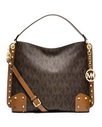 MICHAEL Michael Kors Medium Serena Shoulder Bag - BROWN - 30S4GNRL2B