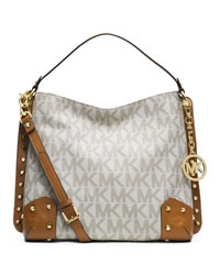 MICHAEL Michael Kors Medium Serena Shoulder Bag - VANILLA - 30S4GNRL2B