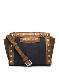 MICHAEL Michael Kors Mini Selma Messenger - DARK DENIM - 32S4GLKC1U