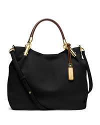 Michael Kors Large Skorpios Shoulder Bag - BLACK - 31S4GSKH9L