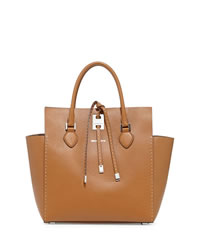 Michael Kors Large Miranda Stitched Tote - LUGGAGE - 31S4PMHT7D