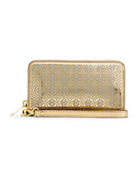 MICHAEL Michael Kors Perforated Flower Multifunction Wallet - GOLD - 32S4MWFZ7V
