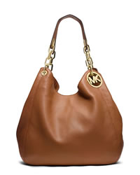 MICHAEL Michael Kors Large Fulton Shoulder Tote - LUGGAGE - 30H3GFTE3L