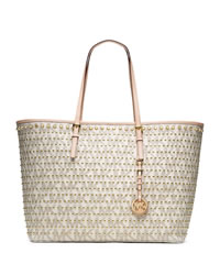 MICHAEL Michael Kors Medium Jet Set Travel Studded Tote - VANILLA - 30H3GVDT2B
