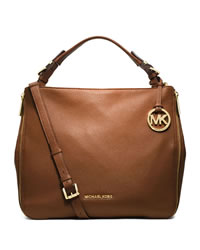 MICHAEL Michael Kors Large Essex Convertible Shoulder Bag - LUGGAGE - 30T4GXSL3L