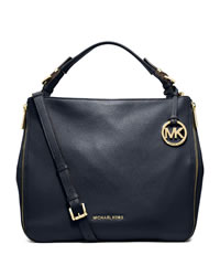 MICHAEL Michael Kors Large Essex Convertible Shoulder Bag - NAVY - 30T4GXSL3L