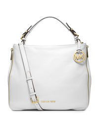 MICHAEL Michael Kors Large Essex Convertible Shoulder Bag - OPTIC WHITE - 30T4GXSL3L
