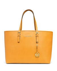 MICHAEL Michael Kors Medium Jet Set Multifunction Travel Tote - VINTAGE YELLOW - 30S3GTVT6L