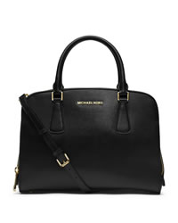 MICHAEL Michael Kors Large Reese Satchel - BLACK - 30T4GEES3A