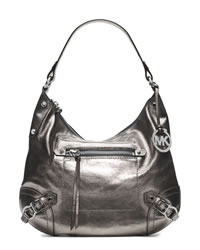 MICHAEL Michael Kors Large Fallon Hobo Shoulder Bag - NICKEL - 30T4MLOL3M