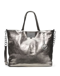 MICHAEL Michael Kors Large Channing Shoulder Tote - NICKEL - 30T4MCHE3M