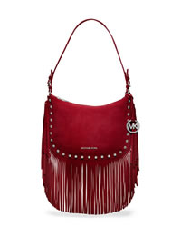 MICHAEL Michael Kors Medium Billy Shoulder Bag - SCARLET - 30T4SBIL2S