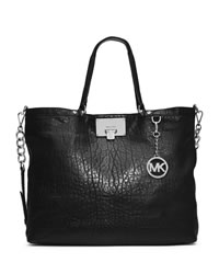 MICHAEL Michael Kors Large Channing Shoulder Tote - BLACK - 30T4SCHE3T