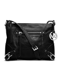 MICHAEL Michael Kors Medium Fallon Messenger - BLACK - 30T4SLOM2L