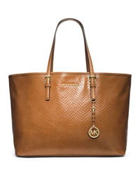 MICHAEL Michael Kors Medium Jet Set Multifunction Tote - WALNUT - 30T4GTVT6N