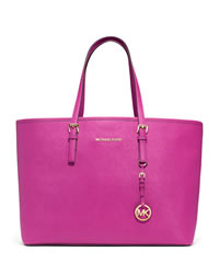 MICHAEL Michael Kors Medium Jet Set Multifunction Travel Tote - RASPBERRY - 30S3GTVT6L