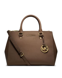 MICHAEL Michael Kors Medium Sutton Satchel - DARK DUNE - 30S4GTVS6L