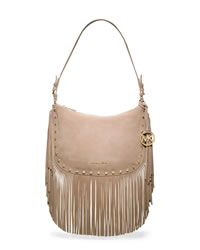 MICHAEL Michael Kors Medium Billy Fringe Shoulder Bag - DARK KHAKI - 30T4GBIL2S