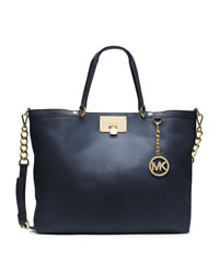 MICHAEL Michael Kors Large Channing Shoulder Tote - NAVY - 30T4GCHE3L