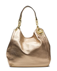 MICHAEL Michael Kors Large Fulton Shoulder Tote - PALE GOLD - 30T4MFTE3M
