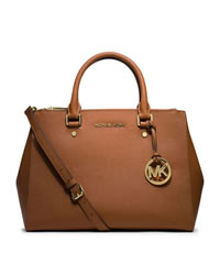 MICHAEL Michael Kors Medium Jet Set Dressy Travel Tote - LUGGAGE - 30S4GTVS6L