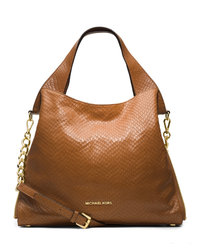 MICHAEL Michael Kors Large Devon Shoulder Tote - WALNUT - 30T4GDVE3N