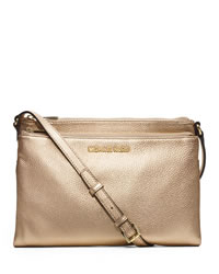 MICHAEL Michael Kors Extra Large Bedford Crossbody - PALE GOLD - 32T4GBFC4M