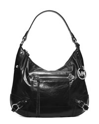 MICHAEL Michael Kors Large Fallon Hobo Shoulder Bag - BLACK - 30T4SLOL3L