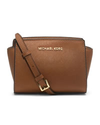 MICHAEL Michael Kors Mini Selma Messenger - LUGGAGE - 32H3GLMC1L